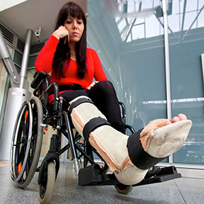 Many accidents can leave Grand Prairie residents in a wheelchair like this one. If you have been hurt, contact a Grand Prairie, Texas personal injury attorney to learn your rights.